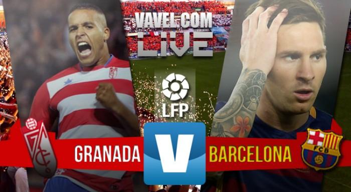 Resultado jogo Barcelona x Granada no Campeonato Espanhol 2016 (0-3)