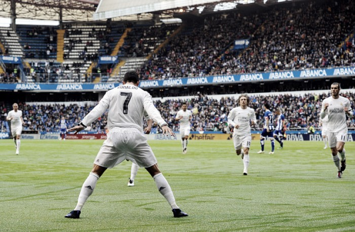 Focado na decisão da Champions, Real Madrid bate Deportivo com dois de Cristiano Ronaldo