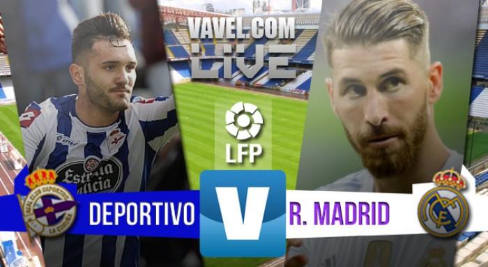 Resultado Real Madrid xDeportivo La Coruna noCampeonato Espanhol 2016 (0-2)