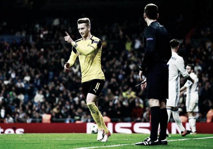 Reus marca no fim, Dortmund empata com Real Madrid e avança como líder às oitavas da UCL
