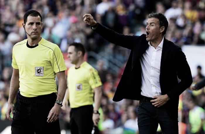"""Luis Enrique elogia seus comandados após goleada sobre Depor: """"Jogamos bem"""""""