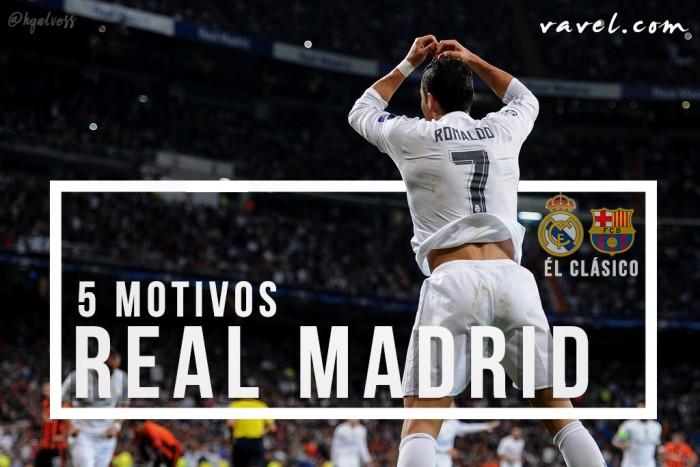 Cinco motivos para acreditar na vitória do Real Madrid contra Barcelona