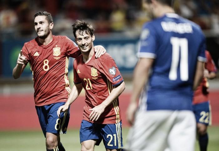 Espanha dá show no segundo tempo e atropela Liechtenstein na abertura das Eliminatórias