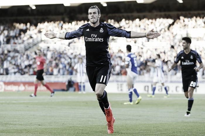Bale marca dois e Real Madrid vence Sociedad com tranquilidade no Anoeta
