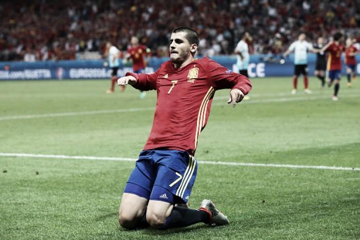 Sem dificuldade, Espanha bate Turquia com dois de Morata e se classifica na Euro