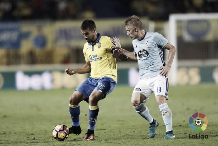 Em jogo de tempos distintos e seis gols, Las Palmas e Celta ficam no empate