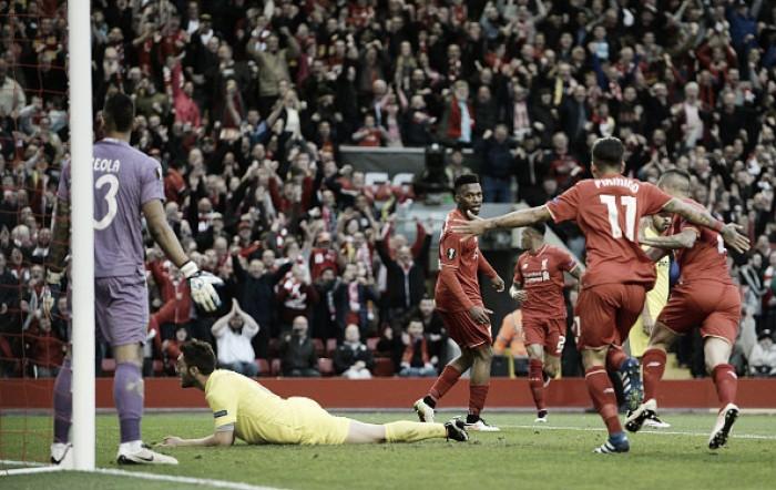 Liverpool mostra forças ao vencer Villarreal e retorna a uma decisão europeia após nove anos