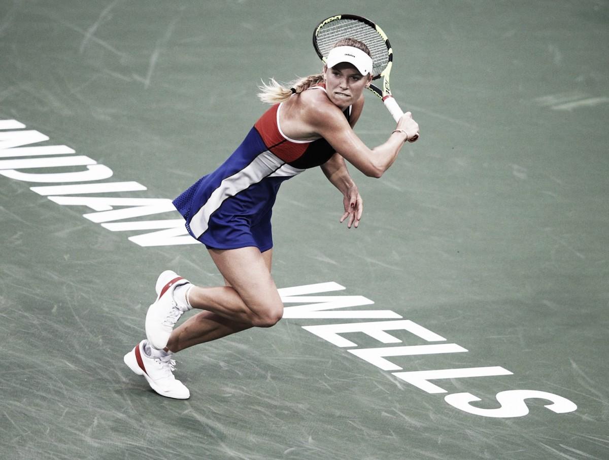 Caroline Wozniacki estreia sem problemas em Indian Wells e elimina Lara Arruabarrena