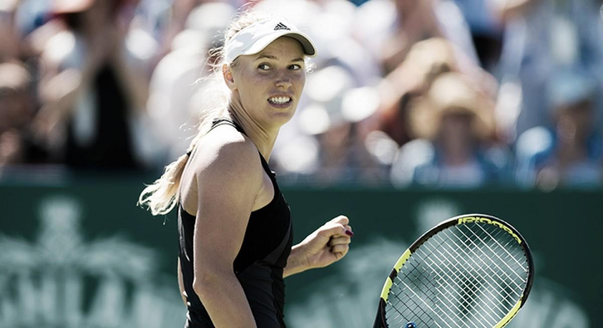 Wozniacki consegue virada épica contra Kerber e chega à final de Eastbourne