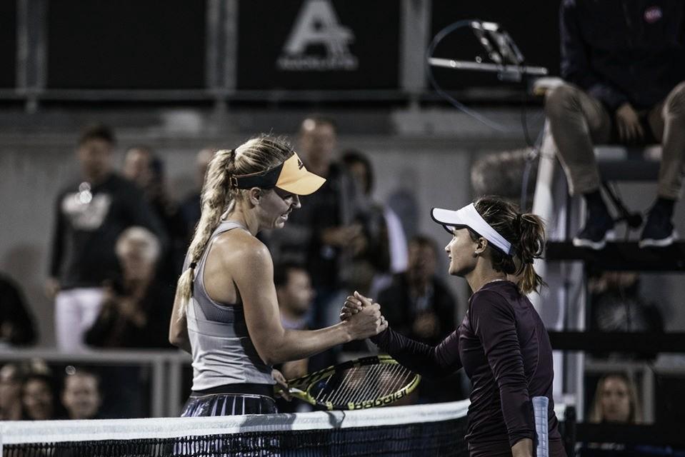 Wozniacki supera dificuldades, passa por Davis e enfrenta Goerges nas quartas de Auckland