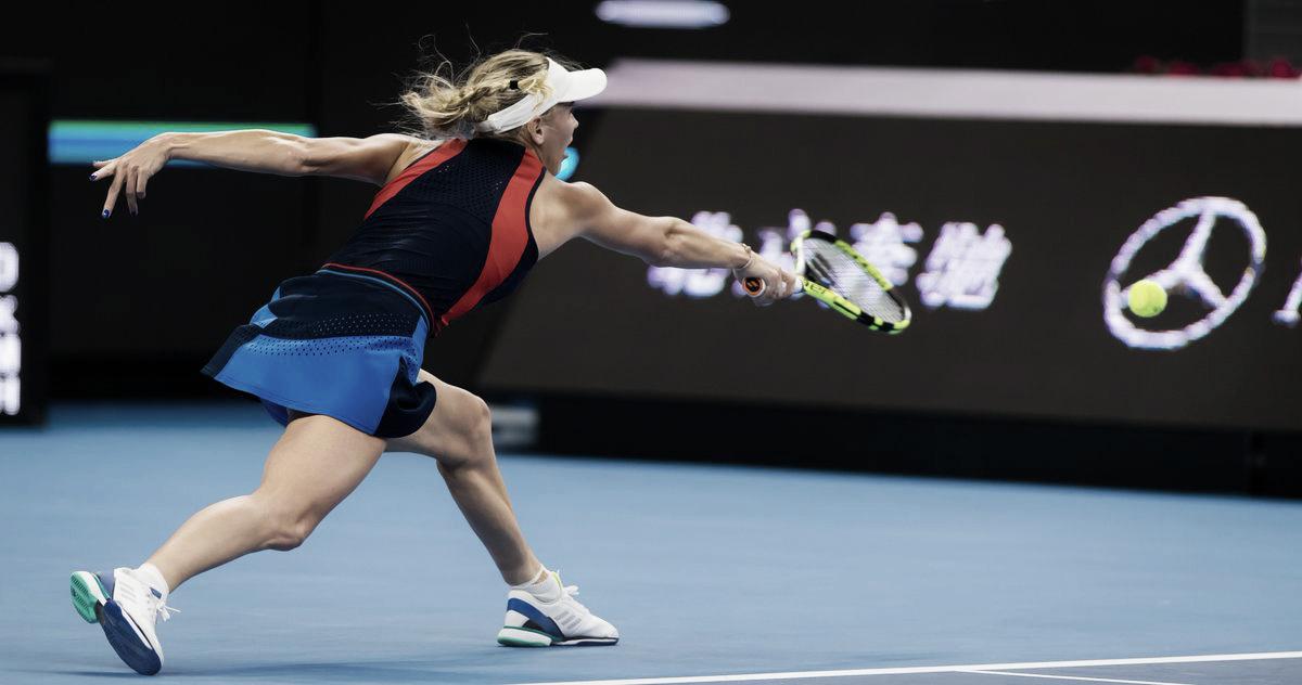 Wozniacki faz boa partida e passa sem grandes dificuldades por Martic em Pequim