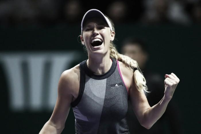 WTA Finals: Caroline Wozniacki stuns Karolina Pliskova in straight sets