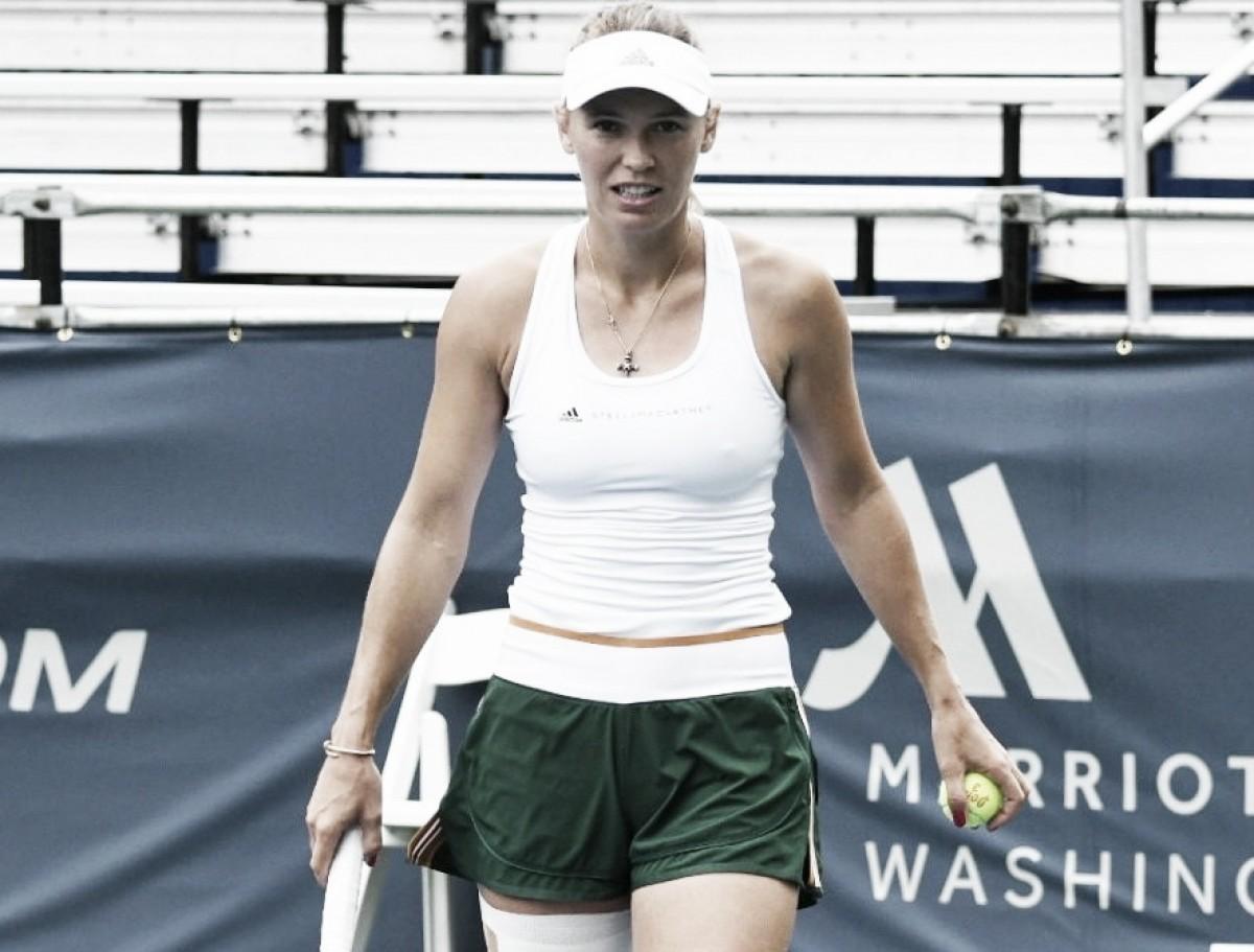 Wozniacki desiste de Washington e vê participação no US Open comprometida