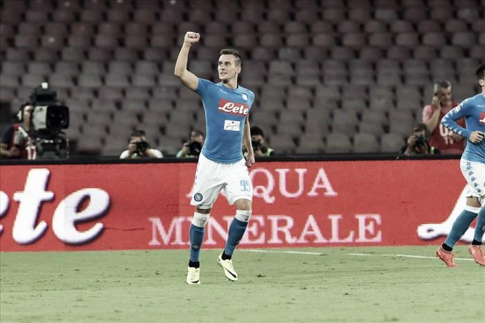 """Autor de dois gols contra o Milan, Milik celebra estreia pelo Napoli: """"Foi como um sonho"""""""