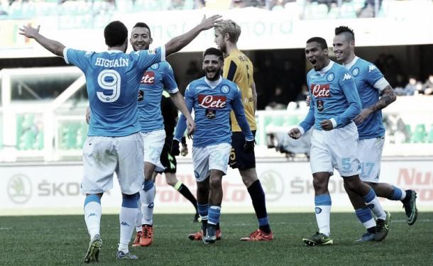 Risultato finale Napoli - Hellas Verona, Coppa Italia 2015/2016 (3-0): tutto facile per gli azzurri
