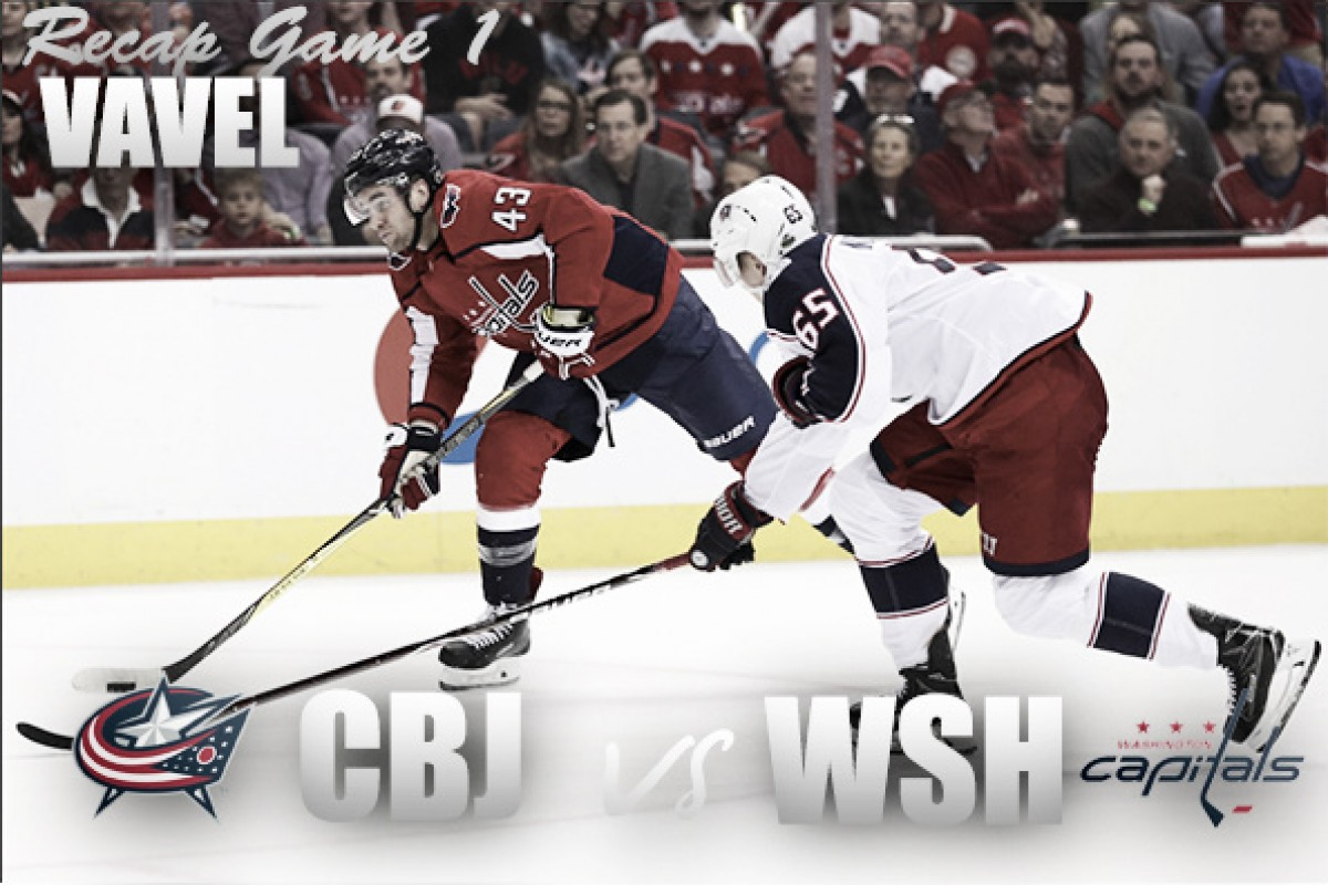 Columbus Blue Jackets complete comeback to take Game 1 over the Washington Capitals