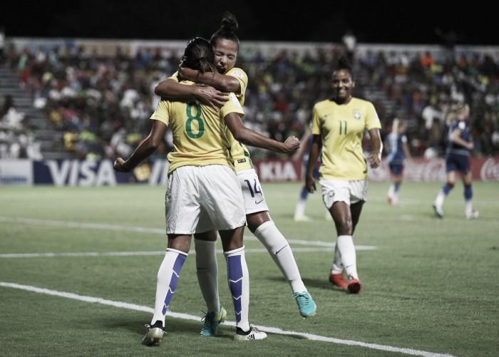 Brasil empata com Suécia e garante vaga nas quartas da Copa do Mundo Feminina Sub20