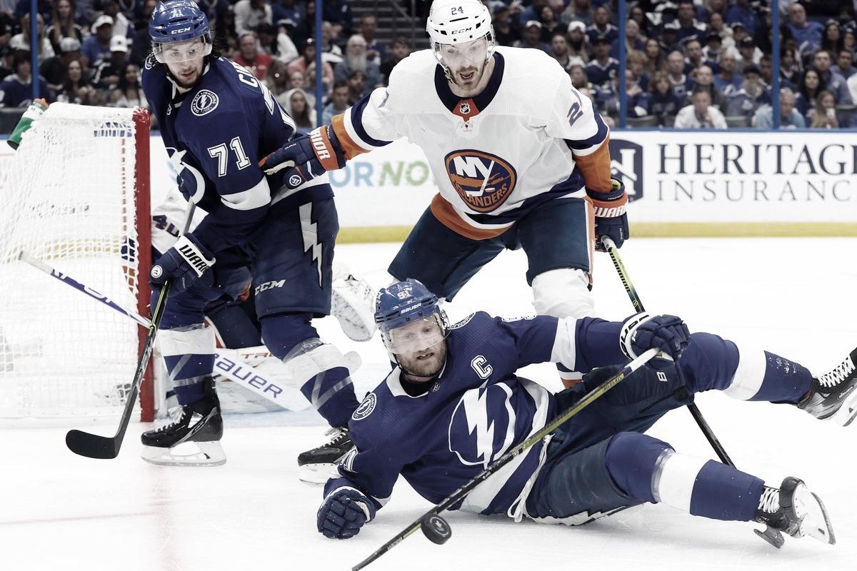Los Islanders pegaron primero en la semifinal ante Tampa Bay