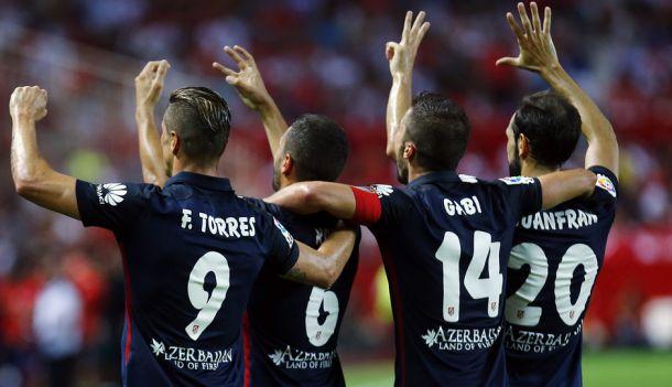 Sevilla - Atlético de Madrid, puntuaciones del Atlético de Madrid, jornada 2 de Liga BBVA