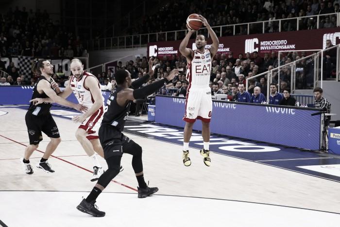LegaBasket Serie A - Milano rialza la testa e sbanca Trento (55-74)
