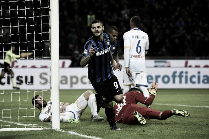 Risultato finale Frosinone - Inter in Serie A 2016 (0-1): Frosinone sfortunato, all'Inter basta Icardi