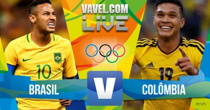 Resultado Brasil x Colômbia no futebol masculino da Rio 16 (2-0)