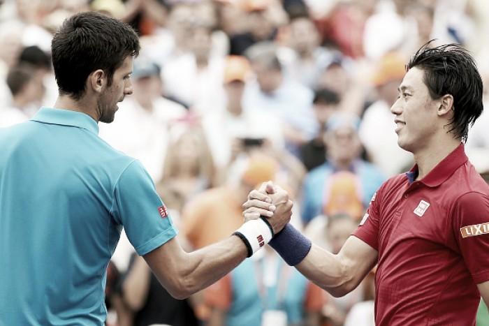 Novak Djokovic x Kei Nishikori noMasters 1000 de Madri 2016 (2-0)