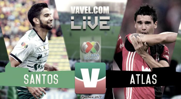 Resultado y goles del Santos (0-1) Atlas