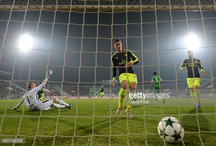 Ludogorets 2-3 Arsenal: Gunners come from two down to qualify for last sixteen