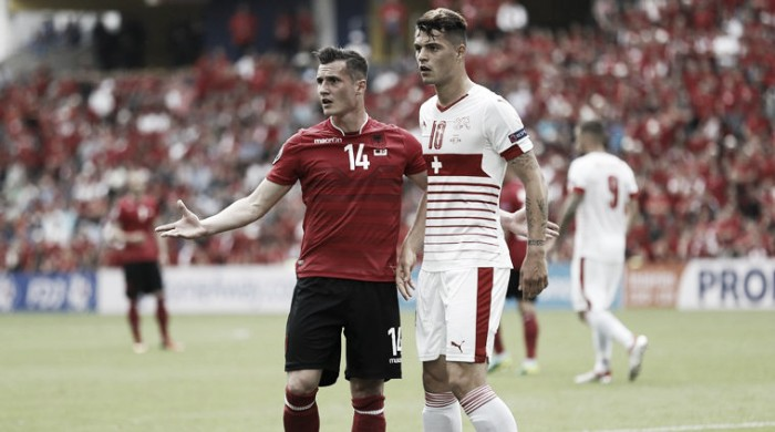 "Granit Xhaka admits battle with his brother at Euro 2016 was ""bizzare"""