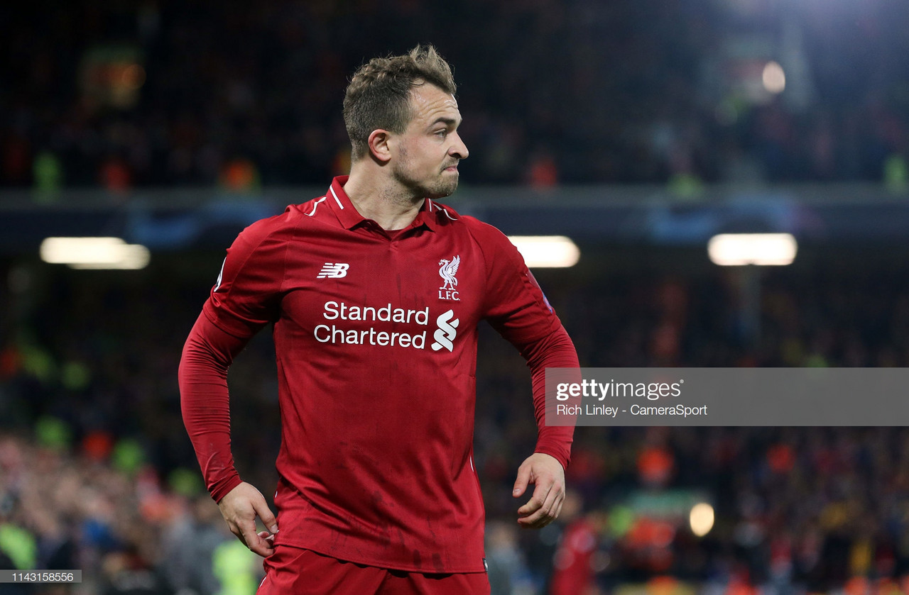 Liverpool forward Xherdan Shaqiri dealt fresh injury blow