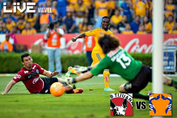 Resultado Xolos de Tijuana - Tigres en Liga MX 2014 (1-1)
