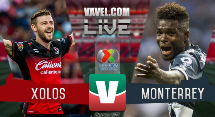Resultado y goles del Xolos 0-3 Monterrey de la Liga MX 2017