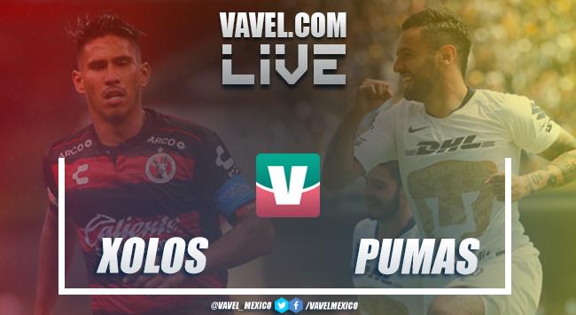 Resultado y goles del Xolos 0 - 1 Pumas en Liga MX 2018