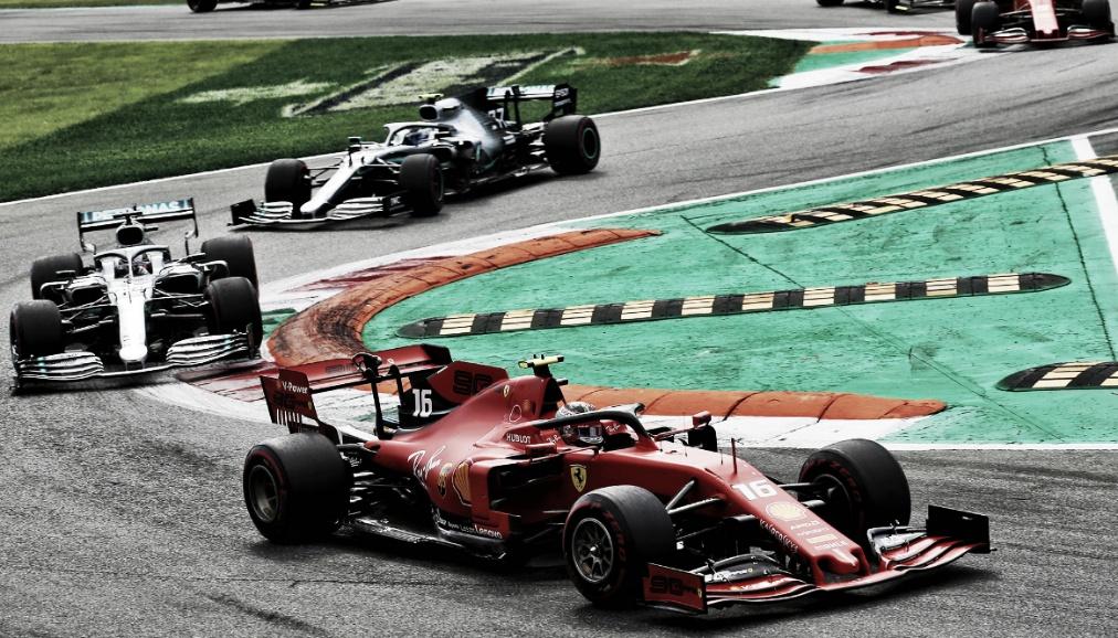 Em briga direta no GP da Itália, Leclerc é superior à Hamilton e vence pela segunda vez