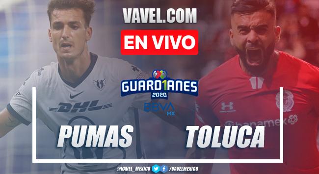 Goles y resumen:Pumas 1-0 Toluca en Liga MX Guard1anes 2020