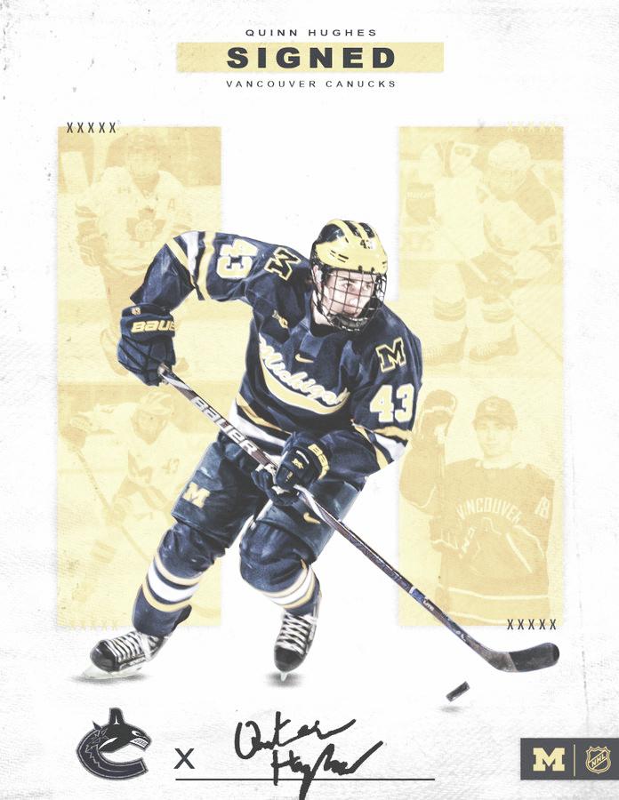 Quinn Hughes debutará en la NHL con los Vancouver Canucks