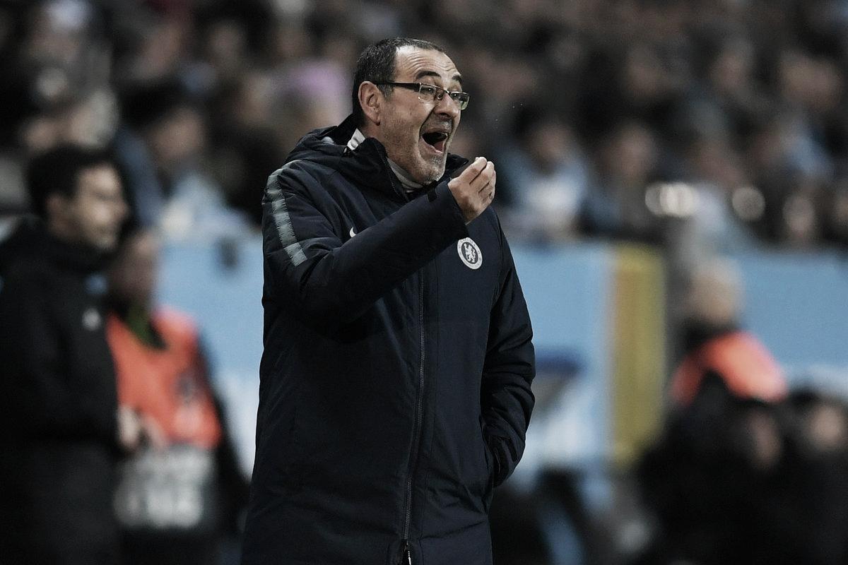 Maurizio Sarri lamenta derrota em casa e eliminação do Chelsea na FA Cup