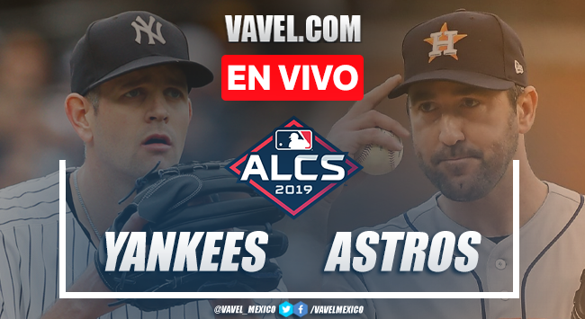 New York Yankees vs Houston Astros en vivo cómo ver transmisión TV online en Juego 2 ALCS 2019 (0-0)