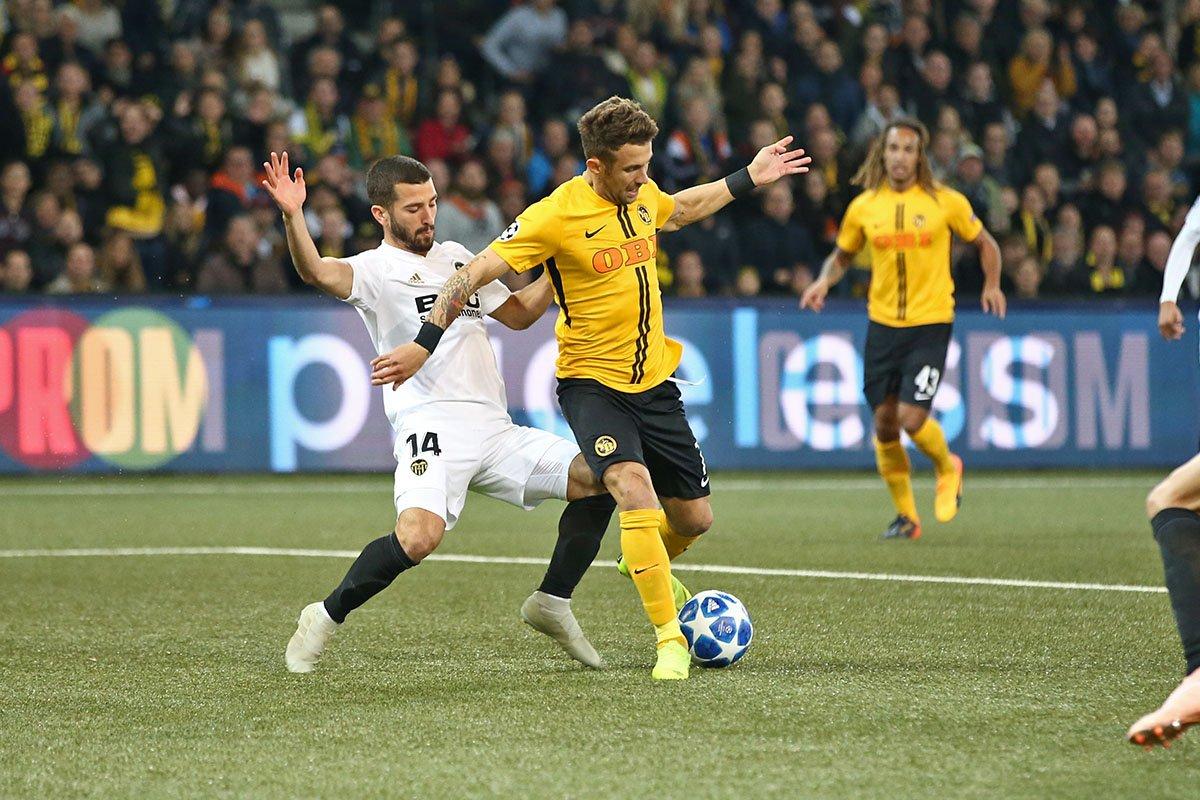 Champions League - Lo Young Boys sfiora il colpaccio, il Valencia salva l'1-1