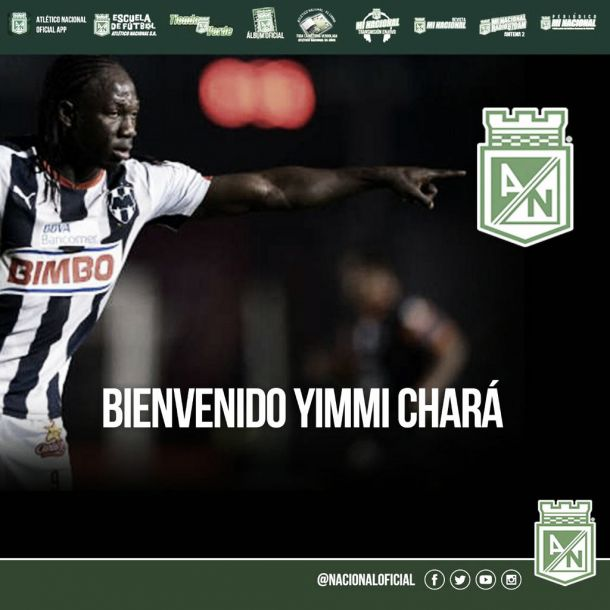 Yimmi Chará, primer refuerzo de Atlético Nacional