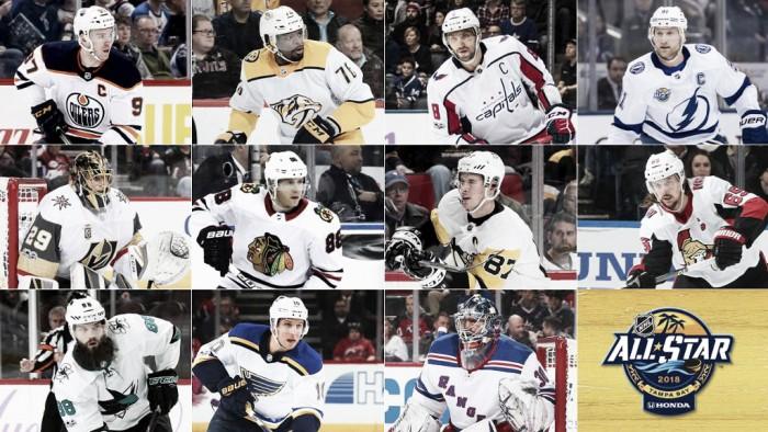 Los rosters completos del All Star 2018 de la NHL