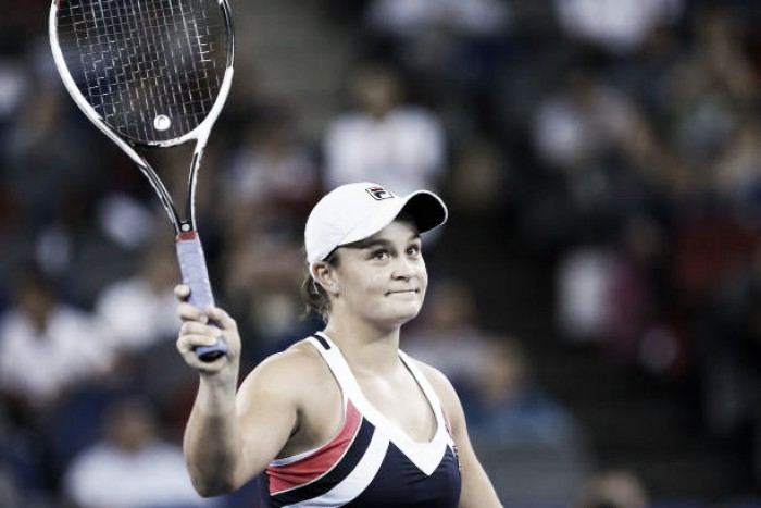 Barty seals first Premier 5 final with Ostapenko victory