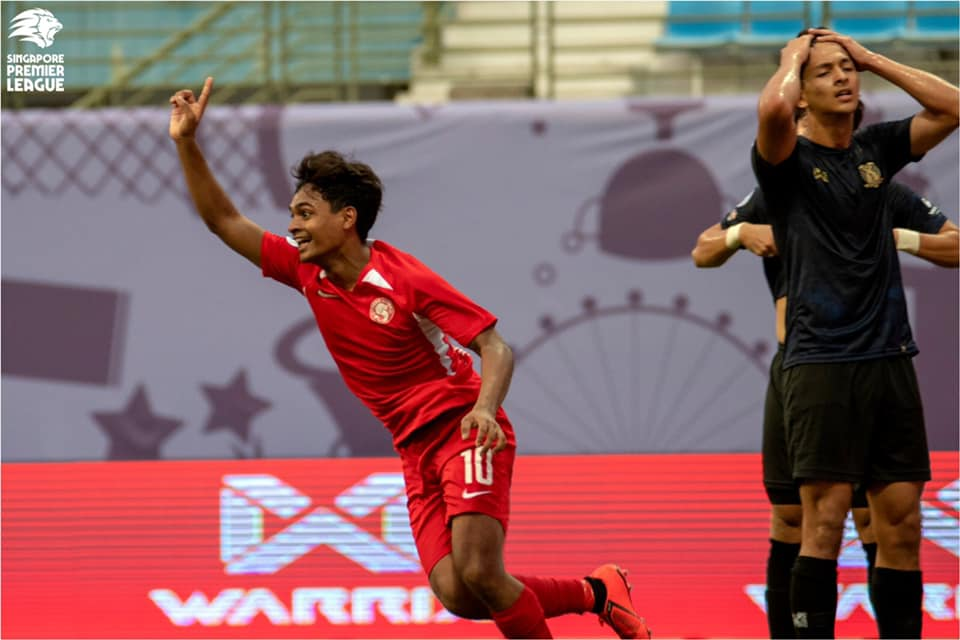 Brilliant Young Lions seal victory against Hougang