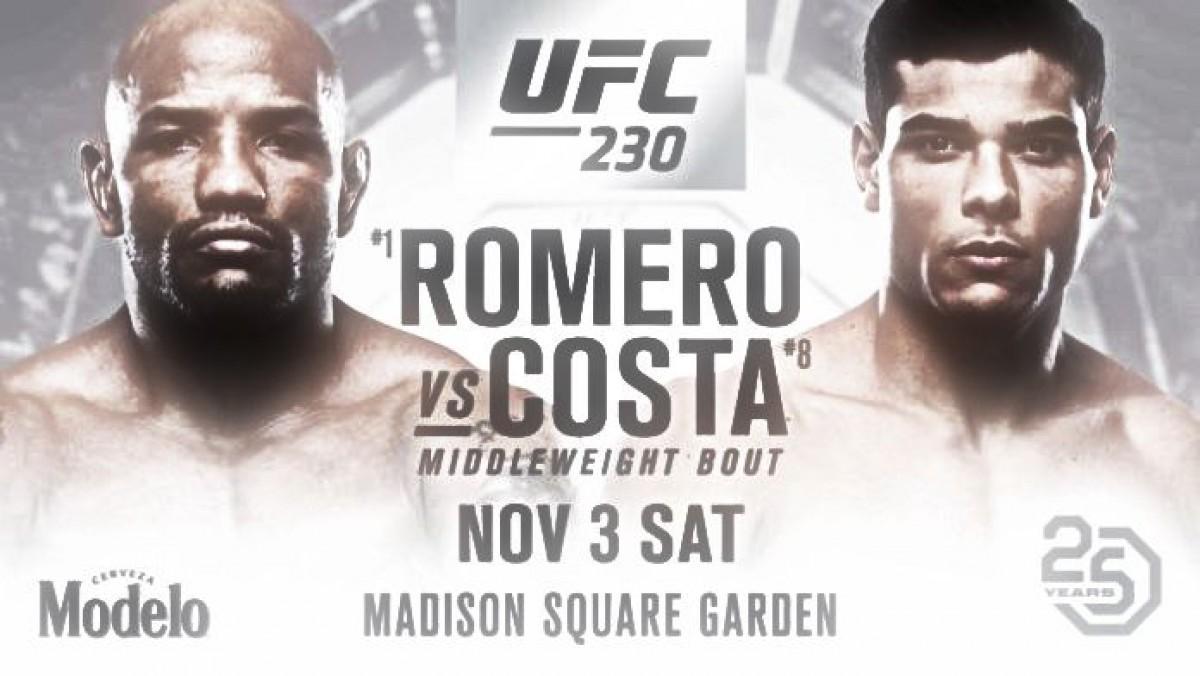 Romero vs Costa augurado para UFC 230