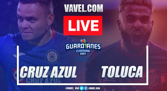 Goals and Highlights of Cruz Azul 3-2 Toluca on Liga MX 2021