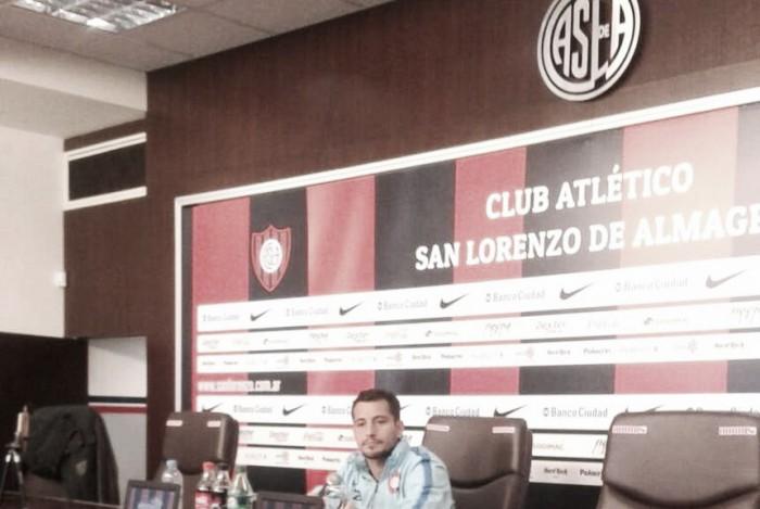 """Blanco: """"San Lorenzo sale a atacar y a jugar"""""""