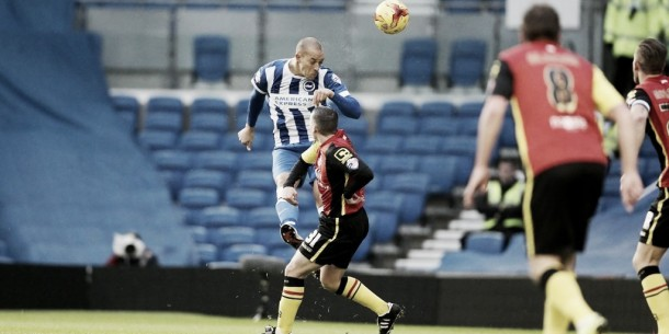 Brighton and Hove Albion 2-1 Birmingham City: Zamora strikes to send Seagulls top