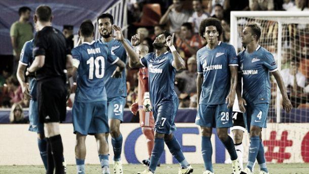 Champions, Witsel stende il Valencia. Zenit ok anche grazie a Hulk