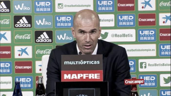 """Zidane: """"L'Atletico è già il passato, dobbiamo farci trovare pronti contro il Levante"""""""